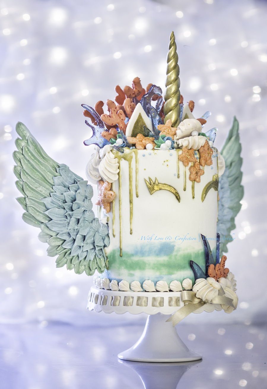 Mermaid Unicorn Cake CWith Love Confection