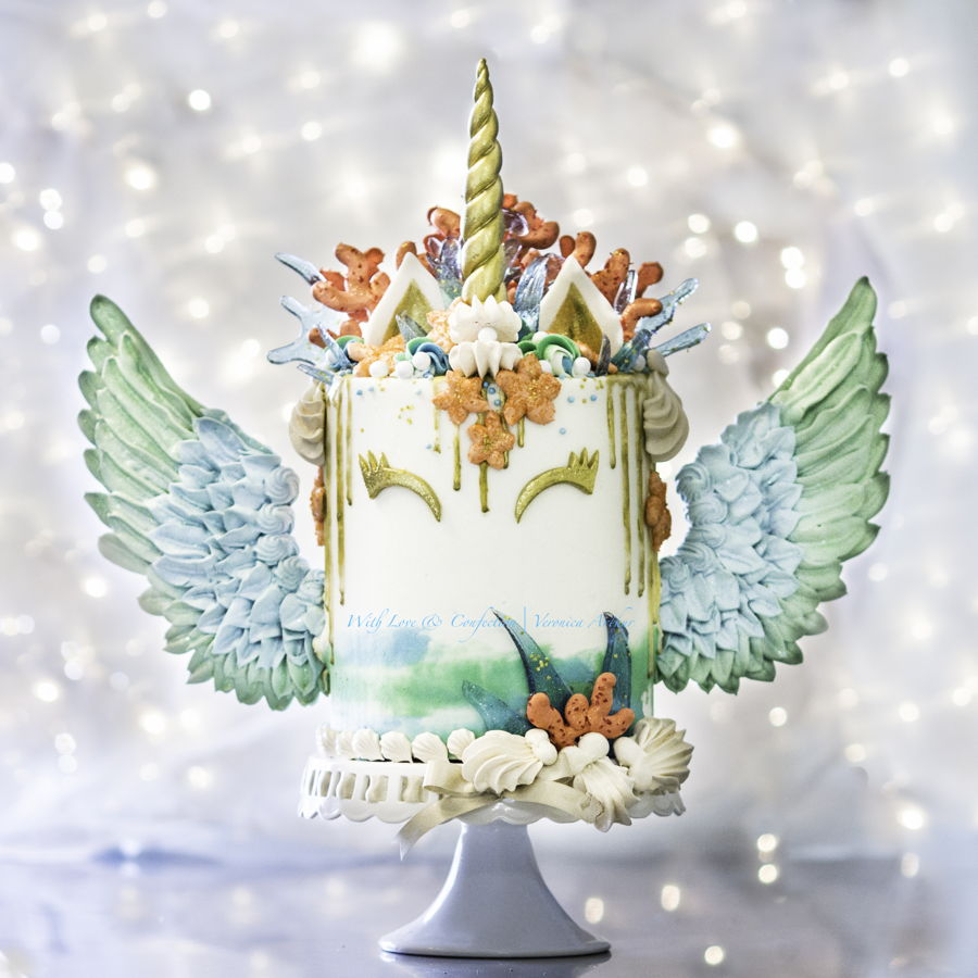 Mermaid Unicorn Cake CakeCentralcom