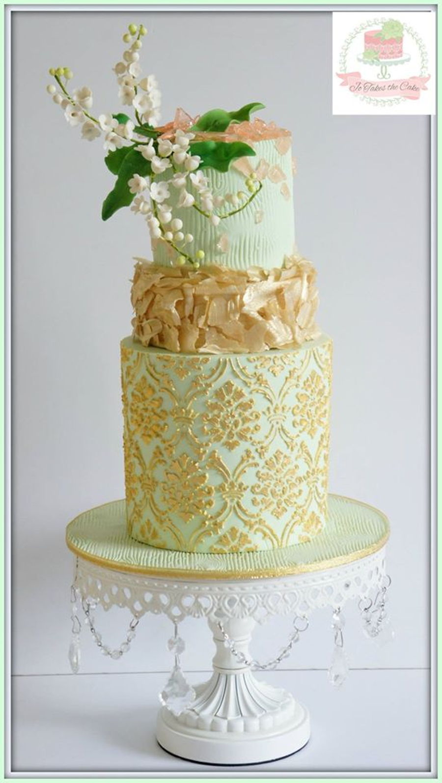 Mint & Gold on Cake Central