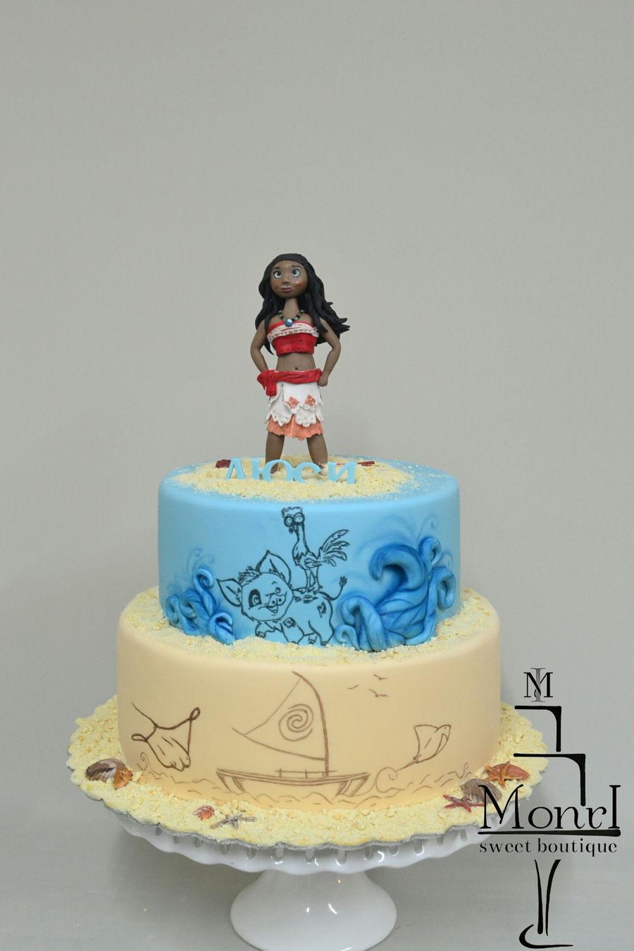 Fondant Moana Cake Ideas