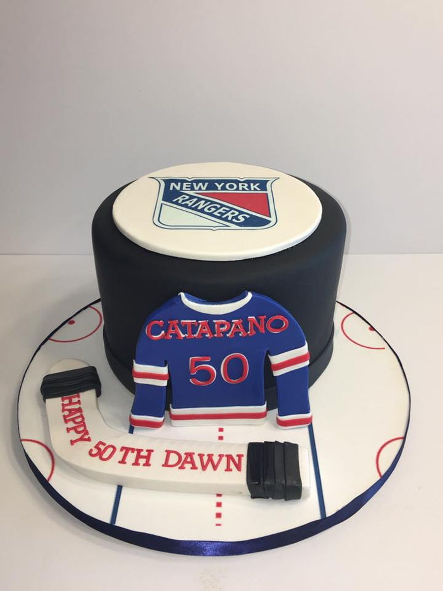 Ny Rangers 50Th Birthday Cake on Cake Central