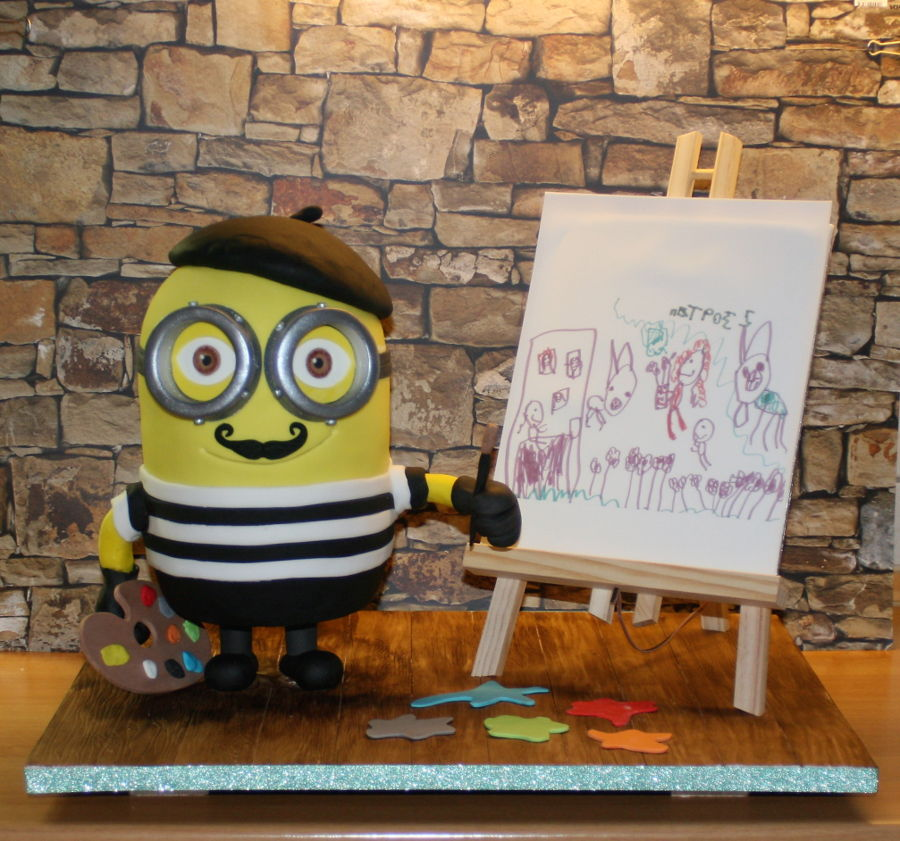 Painter Minion on Cake Central