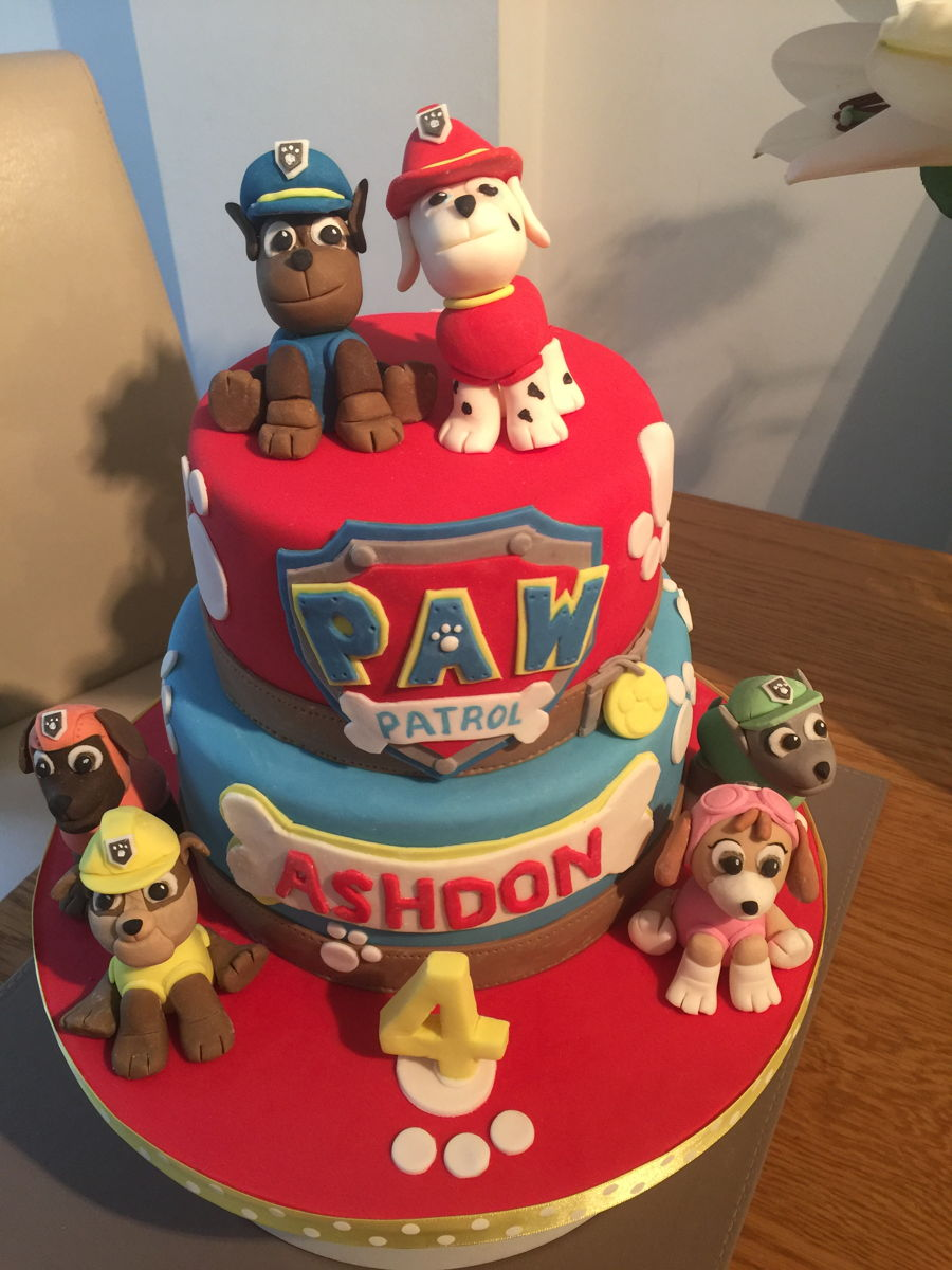 paw patrol cake   cakecentral