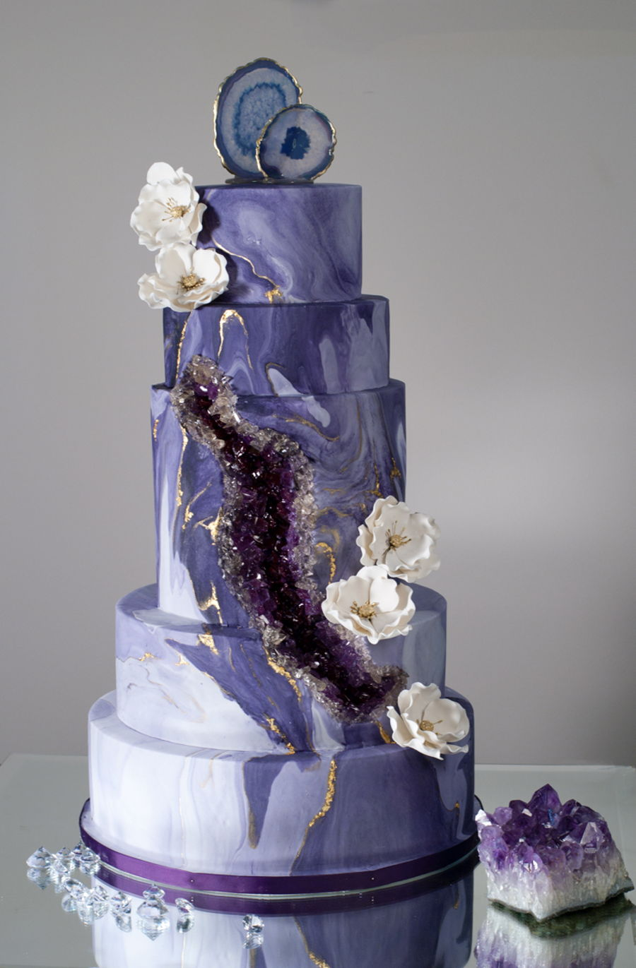 Purple Geode Agate Wedding Cake Cakecentral Com