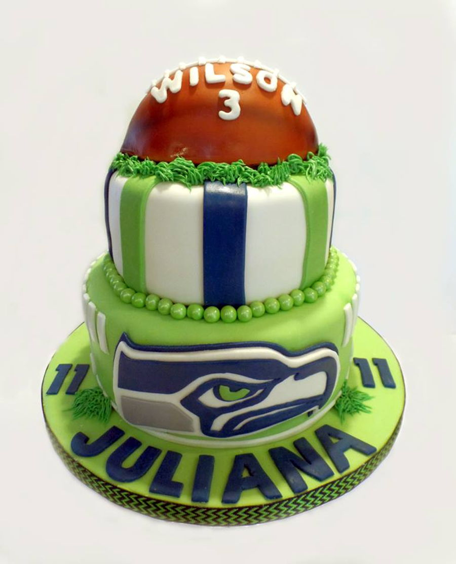 Seattle Seahawks Birthday Cake On Central