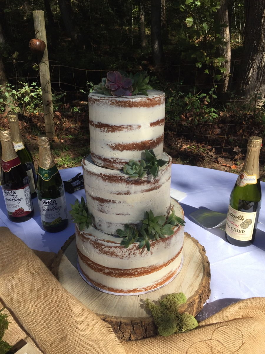Semi-Naked Wedding Cake on Cake Central