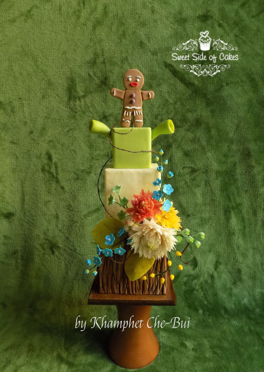 Shrek & Gingy / Shrek 15Th Anniversary Collaboration on Cake Central