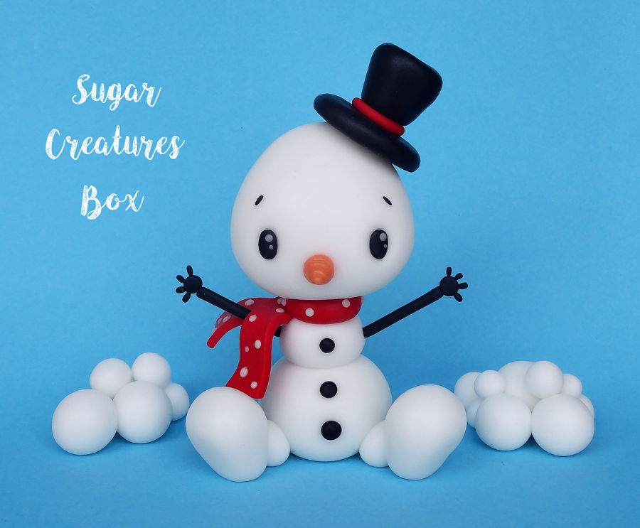 Snowman Topper Tutorial on Cake Central
