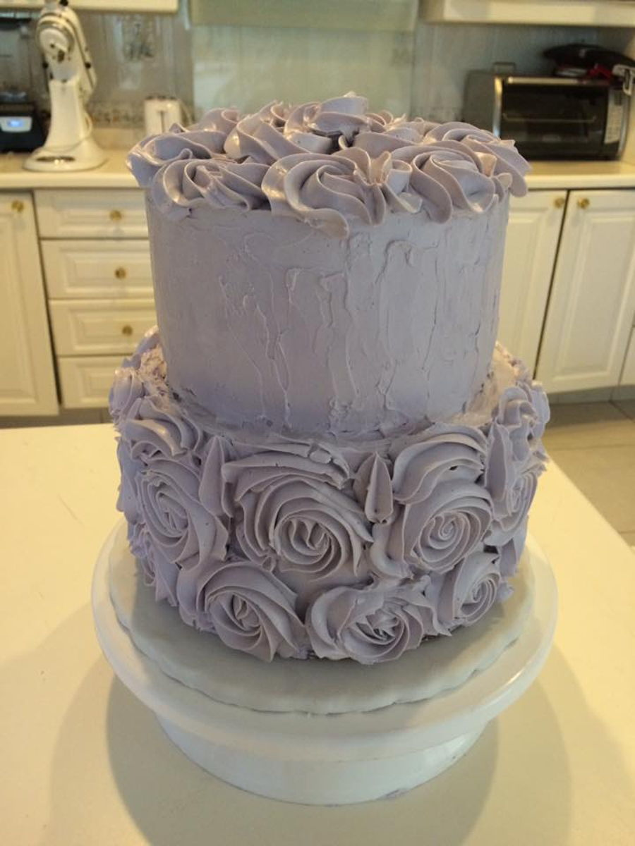 Swiss Merengue Buttercream Cake on Cake Central