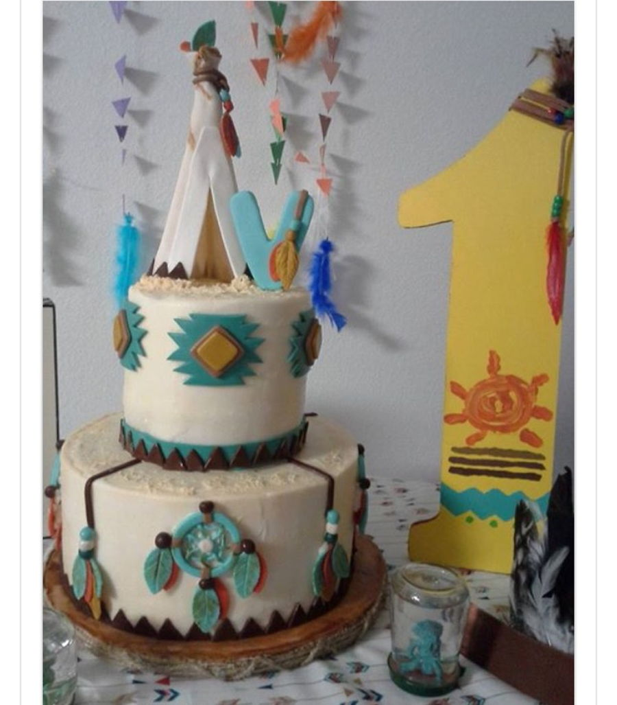Teepee First Birthday Party Cake Cakecentral Com