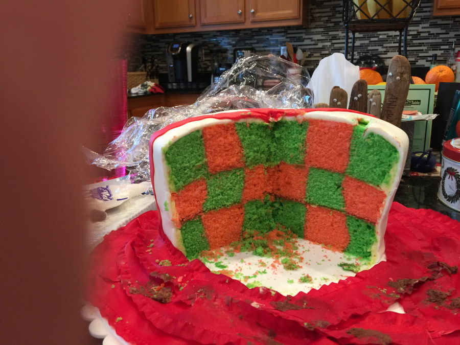 Layer Checkerboard Cake