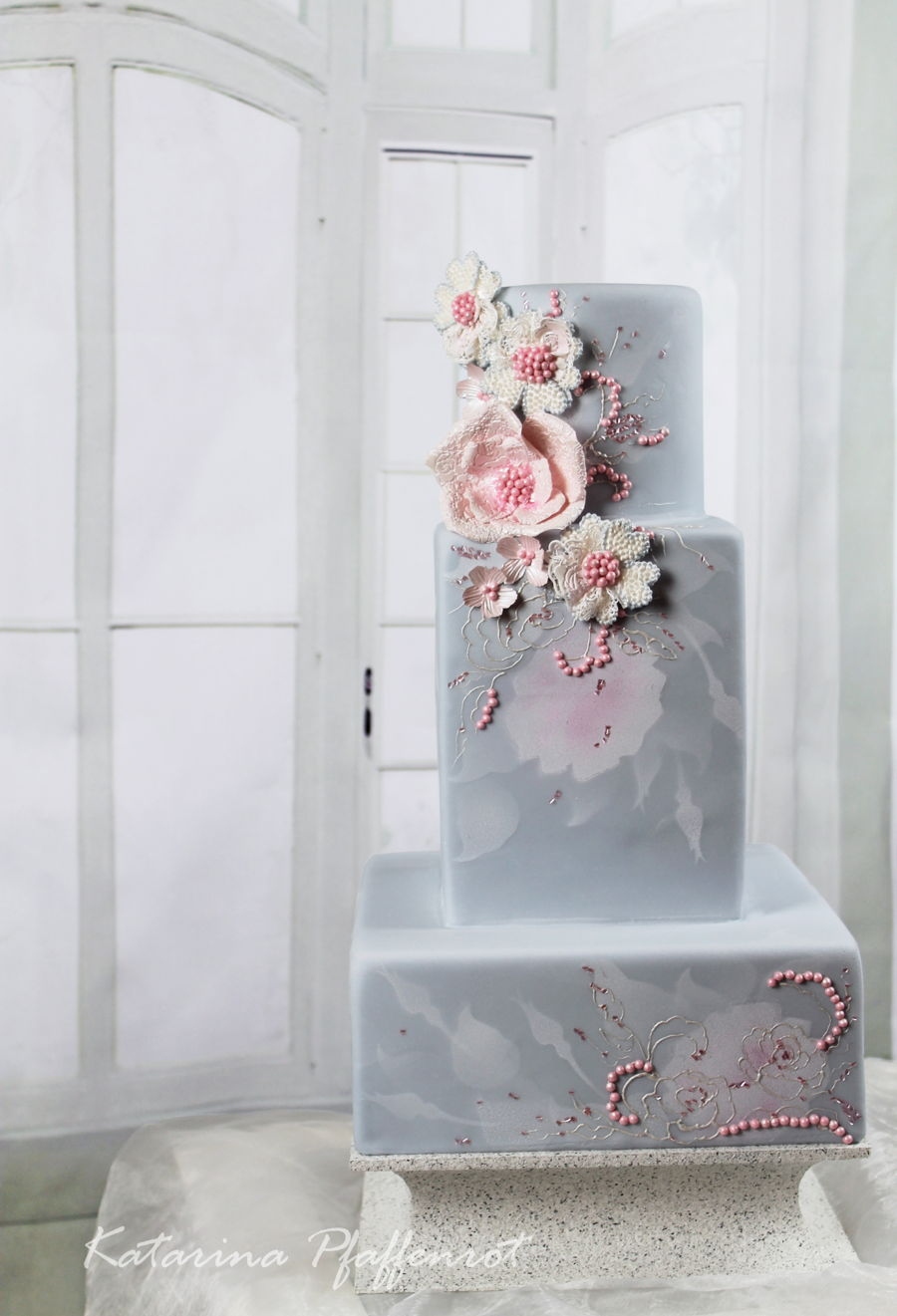"How Much Is 4 Quarts >> Wedding Cake ""rose Quartz & Serenity"" - CakeCentral.com"