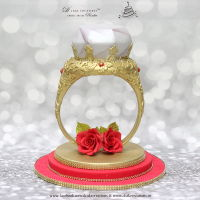 3D Gold Diamond Ring Cake 3D Gold Diamond Ring Cake