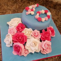 40S Roses A cake for my sisters 40th!
