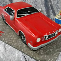 "66 Mustang 66 Mustang replicated in cake based on the photos of the birthday boy's own car. It was about 19""longx 7"" long."