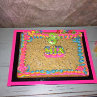 8Th Bday Cookie Cake 8th bday Cookie Cake Happy birthday Mia great dance party