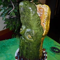 Alligator/croc Cake Alligator or Crocodile cake, not sure lol