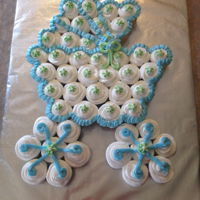 Baby Carriage Baby carriage pull apart cupcake cake