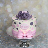Baby Shower Cake Baby shower cake. I'm really grateful to my best helper - daughter - for making this cute baby elephant. The cake was covered with...