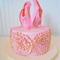 Ballerina Cake Made this cake for my daughter's 5th birthday. Ballerina shoes are made of gum paste.