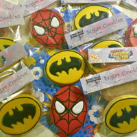 Batman Vs Spiderman Sugar cookies