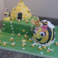 Bumble Bee Cake Bee made of sponge