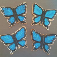 Butterfly Sugar Cookies Butterfly cookies with royal icing.