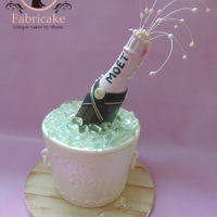 Champagne Bucket Cake Champagne ice bucket cake
