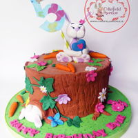 Cute Bunny Rabbit Cake Adorable Chocolate Biscuit Cake for even more adorable Evie. Enjoy!