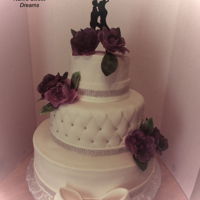 Expecting Wedding Cake Mother to be and Father Wedding. Wafer paper roses.