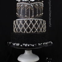 Extravagant Elegence This is the first wedding cake I made and I was inspired by the Balmain Paris fashion for this cake