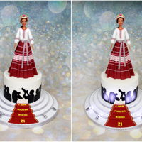 Fashion Show Themed Cake The birthday cake for a beautiful Russian model, who works at Seattle Models Guild. She was participated in an Eco Fashion Week show and...
