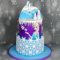 Frozen Themed Cake I really love Frozen themed birthday cakes, you can definitely let your imagination go wild :) A clients desire - snowflakes - wanted to...