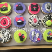 Glam Girl Cupcakes Glam Girl/ Glam Spa Birthday Cupcakes