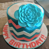 Happy Birthday!! Chevron cake