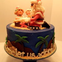 Happy Birthday Jesus Christine's special cake for her daycare! Santa comes to her daycare every Christmas to tell the children the story of the Jesus&#039...
