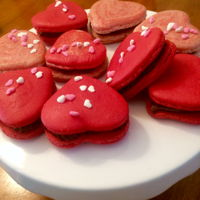 Heart ❤️ Shaped French Macaroons ❤️ French macaroons filled with chocolate ganache