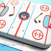 Hockey Time! All accents are made of fondant.