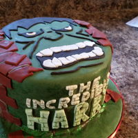 Incredible Hulk Cake Incredible hulk cake made for harry!