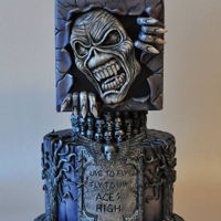 Iron Maiden Cake Hand modelled