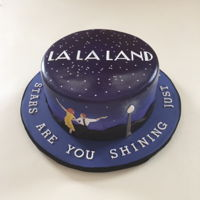 La La Land Cake Just in time for the Oscars. I made this cake for my husband's birthday because we're obsessed with La La Land! Covered in...