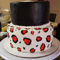 Leopard Print Cake Fondant cake with hand painted leopard print.