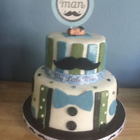Little Man Baby Shower Cake Baby shower cake for my great-nephew
