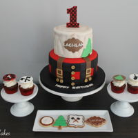 Lumberjack Themed Birthday Lumberjack themed birthday cake, cupcakes and sugar cookies!