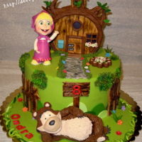 Masha And Bear Cake for a boy who loves fairy tale Masha and the bear