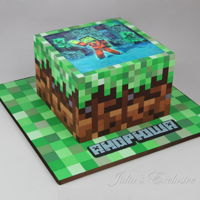 Minecraft Cake Minecraft themed birthday cake for a fan of this game and Michael Jackson. Julia's Exclusive Cakes https://www.facebook.com/...