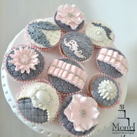 Muffins Decorated muffins decorated with fondant