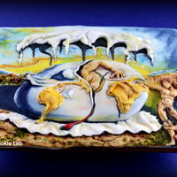 "My Dali Cookie - Sugar Art Museum Collaboration A Cookie made for the ""Sugar Art Museum Collaboration""My cookie was inspired by a painting of the Spanish Painter Salvador Dali...."