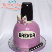 Nail Polish 3D Cakes This cake was 4 layers of cake that was sculpted into a nail polish shape and then iced in buttercream and covered in MMF. Top part of the...