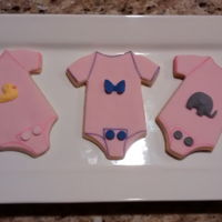 New Born Onesies NFSC Onesies with fondant.